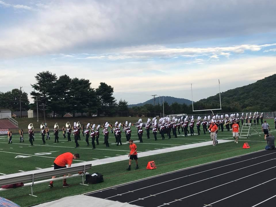 The 2018-19 Marching Terriers take the field at William Byrd