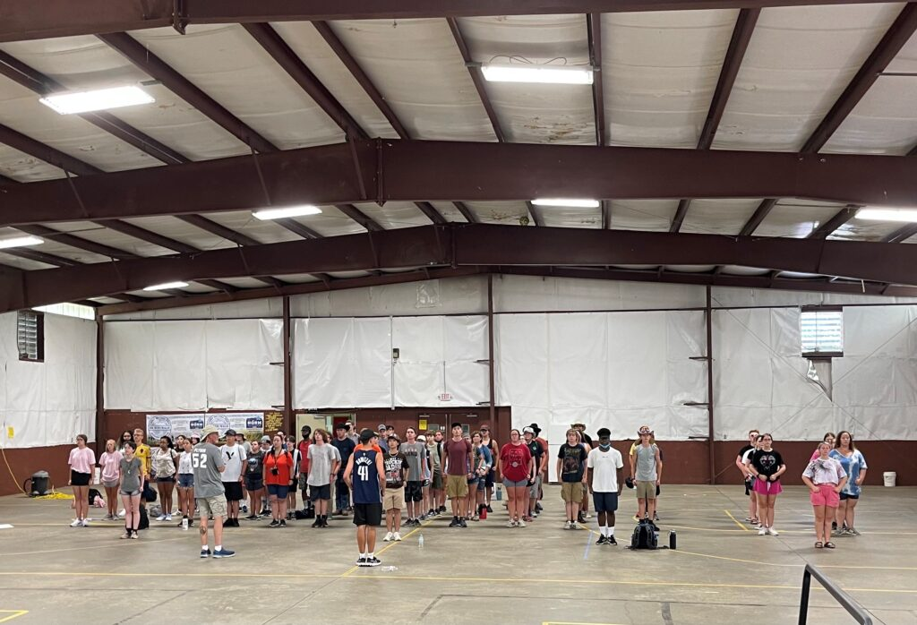 First muster of away camp